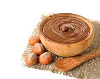 Chocolate and hazelnuts royalty free stock photo