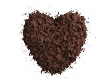 Chocolate heard Stock Photo