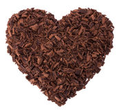 Chocolate heart Royalty Free Stock Photos