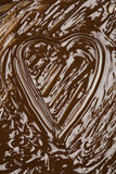 Chocolate heart. Chocolate background with heart shape Royalty Free Stock Images