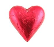 Chocolate Heart. Close up of Luxury Chocolate Heart Stock Photography