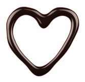 Chocolate heart. Isolated on white background Stock Photography