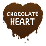 Chocolate heart. Liquid chocolate heart. Vector illustration stock illustration