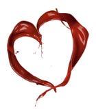 Chocolate heart Stock Image