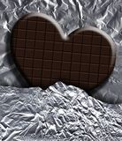 Chocolate heart Royalty Free Stock Image