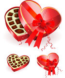 Chocolate  in Heart Box Royalty Free Stock Images