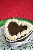 Chocolate heart cake Royalty Free Stock Photo