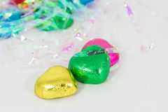 Chocolate heart candies Royalty Free Stock Photography