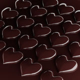 Chocolate heart candy. Royalty Free Stock Photography