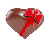 Chocolate heart gift Stock Photo