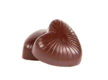 Chocolate heart isolated Stock Photo