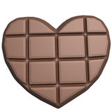 Chocolate heart isolated on white background Royalty Free Stock Photos