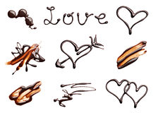 Chocolate heart love valentine day Stock Photos