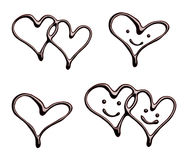 Chocolate heart love valentine day Royalty Free Stock Photos
