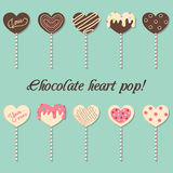 Chocolate heart pop Stock Photos