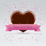 Chocolate heart postcard Stock Image