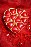 Chocolate heart red Stock Photos