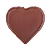 Chocolate heart shape Stock Photos