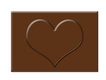 Chocolate heart shape frame in rectangle shape Stock Image
