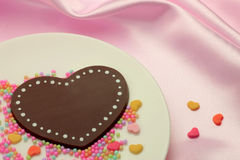 Chocolate Heart-shaped fotografia de stock