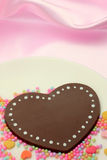 Chocolate Heart-shaped foto de stock royalty free