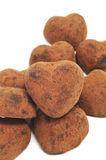 Chocolate heart-shaped bonbons Stock Images