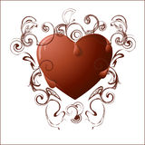 Chocolate heart. Royalty Free Stock Images