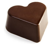 Chocolate heart. Chocolate valentine heart isolated on white background royalty free stock image