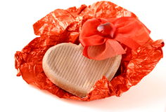 Chocolate heart for Valentine's Day Stock Photography