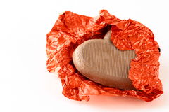 Chocolate heart for Valentine's Day royalty free stock images