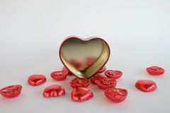 Chocolate heart valentines day. Royalty Free Stock Photography