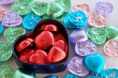 Chocolate valentine heart. Valentines day. Royalty Free Stock Photo