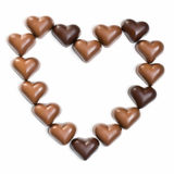Chocolate heart on white Royalty Free Stock Photos
