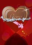 Chocolate heart in wrapper Royalty Free Stock Photos