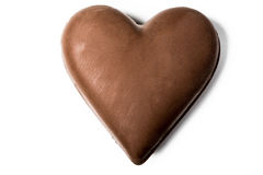 Chocolate hearth isolated on white background Royalty Free Stock Image