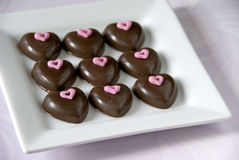 Free Chocolate Hearts Royalty Free Stock Images - 17096619