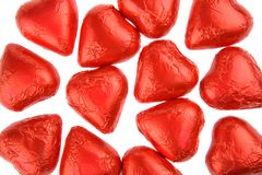 Chocolate Hearts royalty free stock image