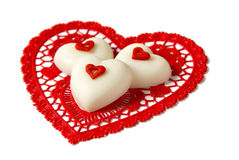 Chocolate hearts Stock Photography