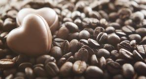 Chocolate hearts Stock Image