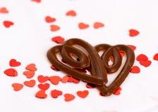 Chocolate hearts Stock Photos