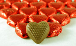 Chocolate Hearts. For Valentine's Day Royalty Free Stock Images