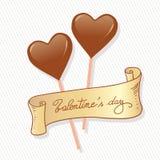 Chocolate hearts Stock Photo