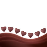 Chocolate hearts background Royalty Free Stock Photography