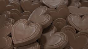 Chocolate Hearts Background stock photography