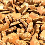 Chocolate Hearts Background for Valentines Day royalty free illustration