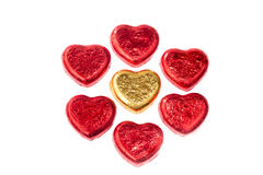Chocolate hearts candies Royalty Free Stock Photography
