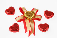 Chocolate hearts candies Royalty Free Stock Image