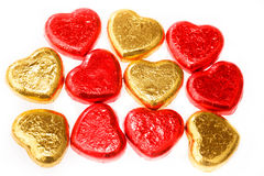 Chocolate hearts candies Royalty Free Stock Images