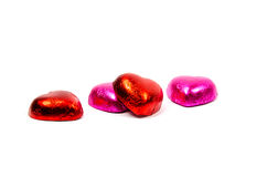Chocolate hearts candies Stock Image