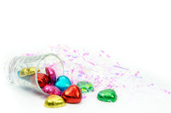 Chocolate hearts candies Royalty Free Stock Photos